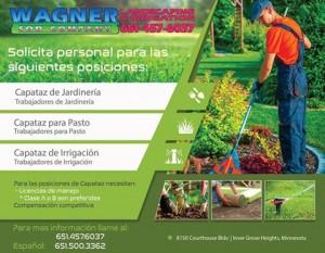 Oportunidad Trabajo-Irrigación-Jardinería-Pasto